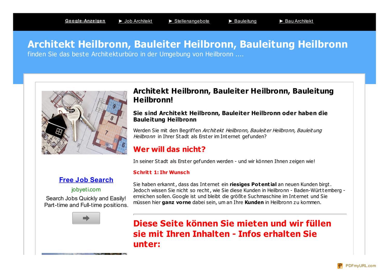 architekt heilbronn by peter brand issuu. Black Bedroom Furniture Sets. Home Design Ideas