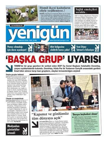 Diyarbakir Yenigun Gazetesi 14 Nisan 2013 By Osman Ergun Issuu