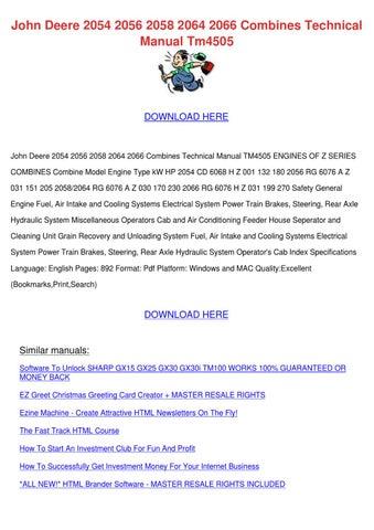 John Deere 2054 2056 2058 2064 2066 Combines by Svetlana Sovereign ...