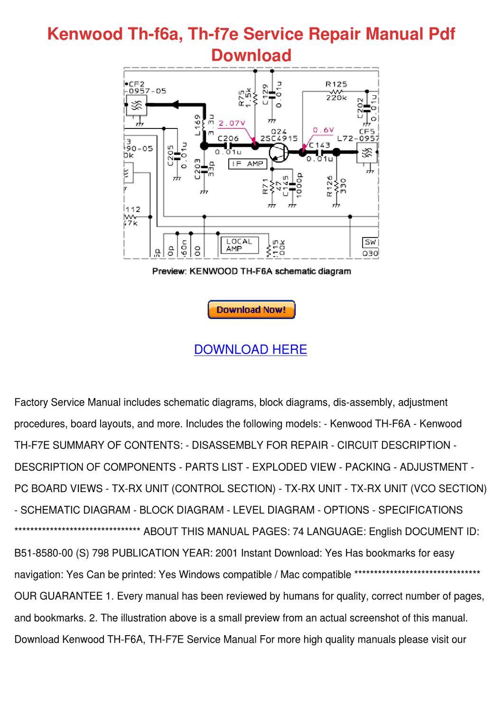 Kenwood Th F6a Th F7e Service Repair Manual P by Svetlana Sovereign - issuu
