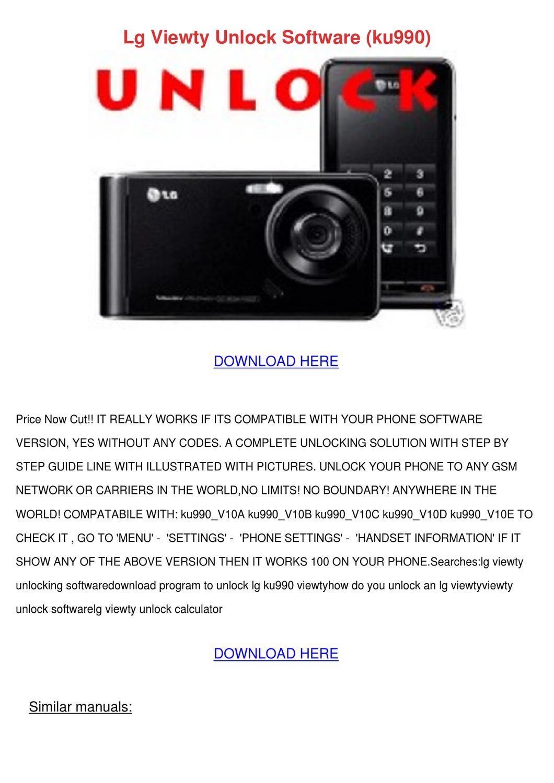 lg viewty unlock software ku990 by svetlana sovereign issuu rh issuu com LG KU5900 LG Viewty Phone