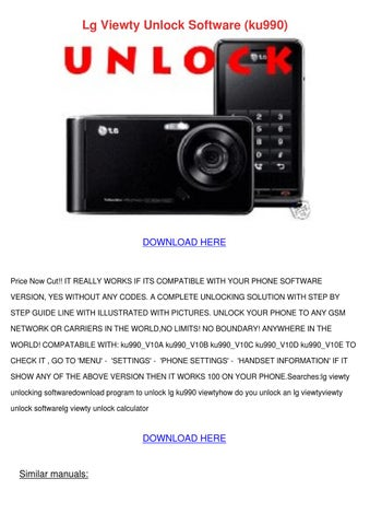 lg viewty unlock software ku990 by svetlana sovereign issuu rh issuu com Mobilni Svet LG KU990 LG Optimus KU5900