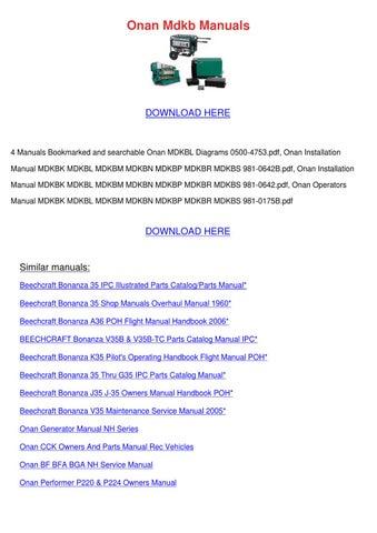 onan mdkb manuals by ronda geren issuu Dj Wiring Diagram page 1