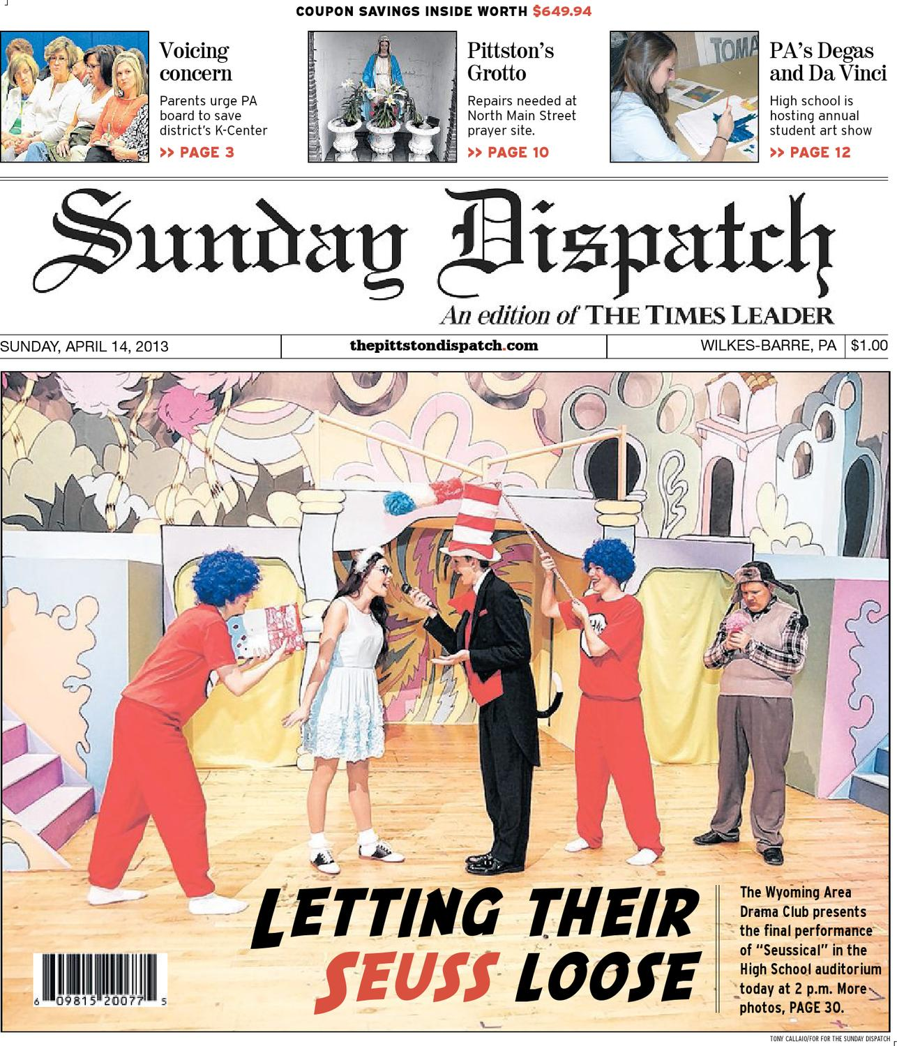 The Pittston Dispatch 04 14 2013 By The Wilkes Barre Publishing Company    Issuu