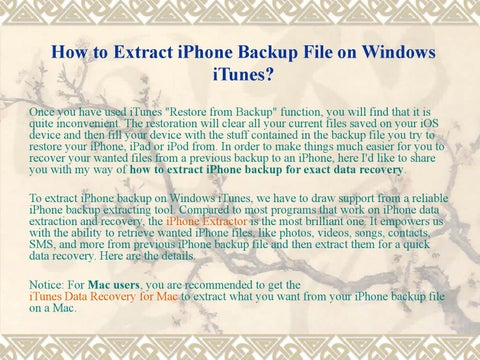 How to Extract iPhone Backup File on Windows to Recover SMS