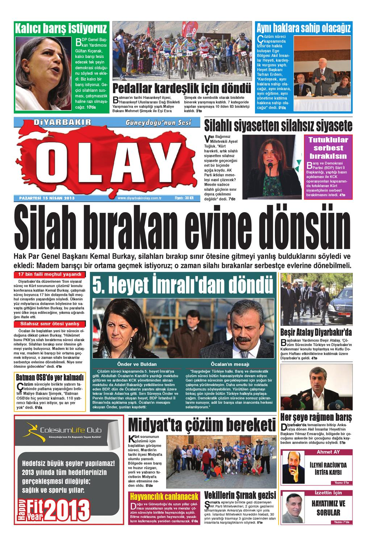 15 04 2013 Gazete Sayfalari By Diyarbakir Olaygazetesi Issuu