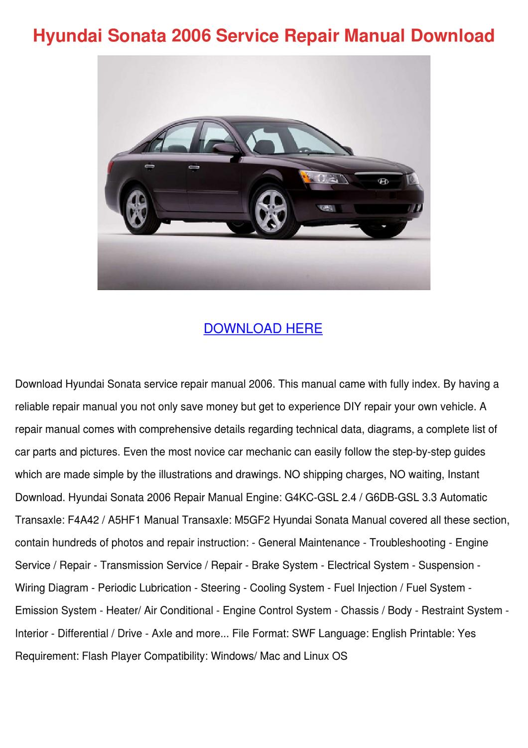 hyundai sonata repair manual pdf
