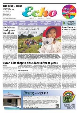 8fc58e4036f Byron Shire Echo – Issue 27.44 – 16 04 2013 by Echo Publications - issuu