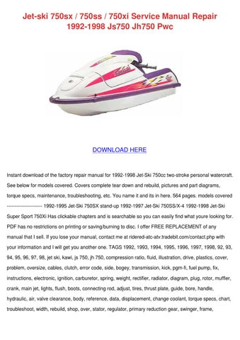 kawasaki jet ski watercraft stx 15f 2004 2005 service manual