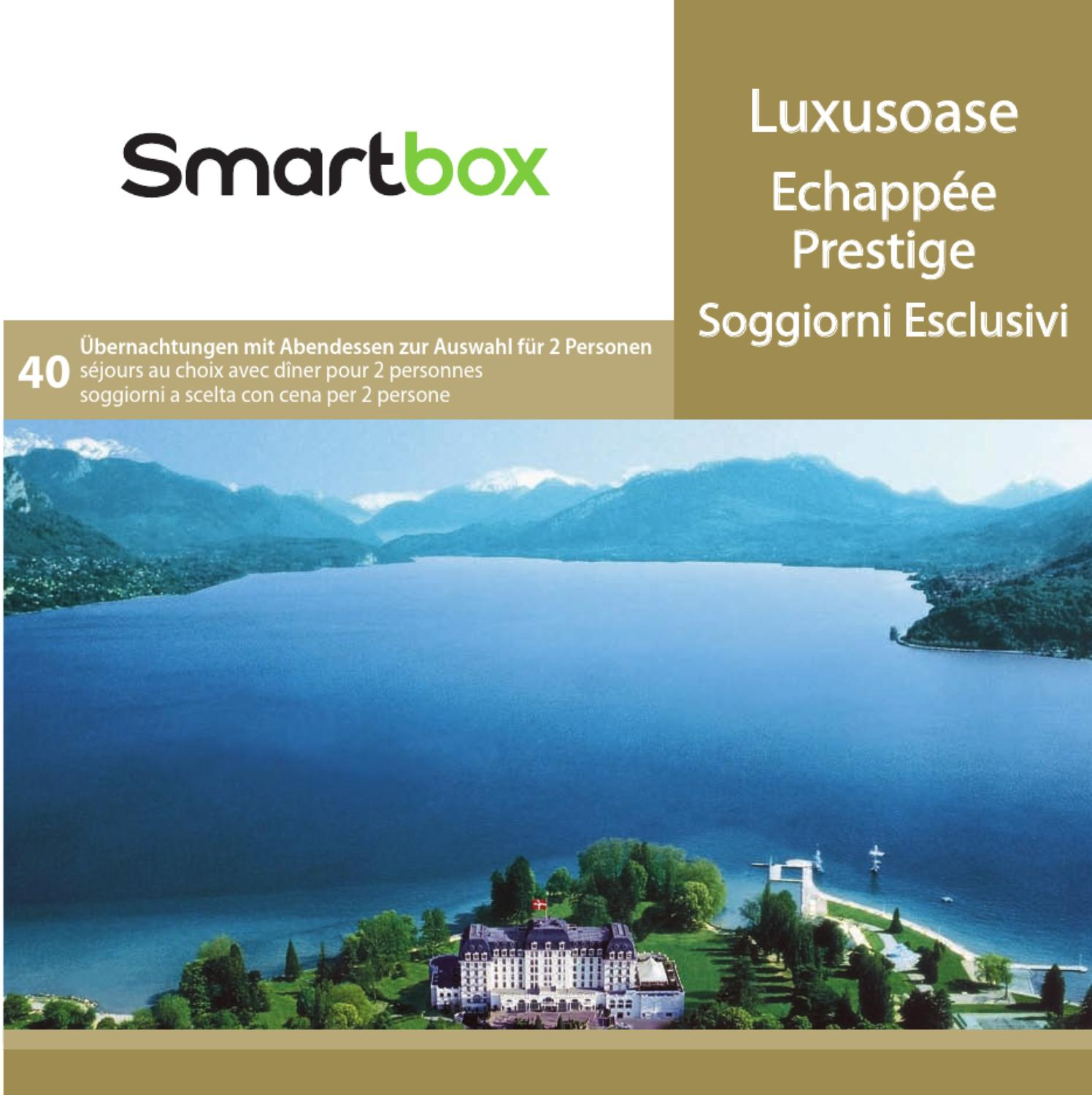 Smartbox Echappée prestige by technomag-ch - issuu