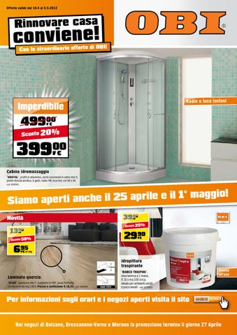 Box Doccia Prezzi Obi.Volantino Obi Area12 Shopping Center Torino Dal 18 4 Al 5 5 2013 By