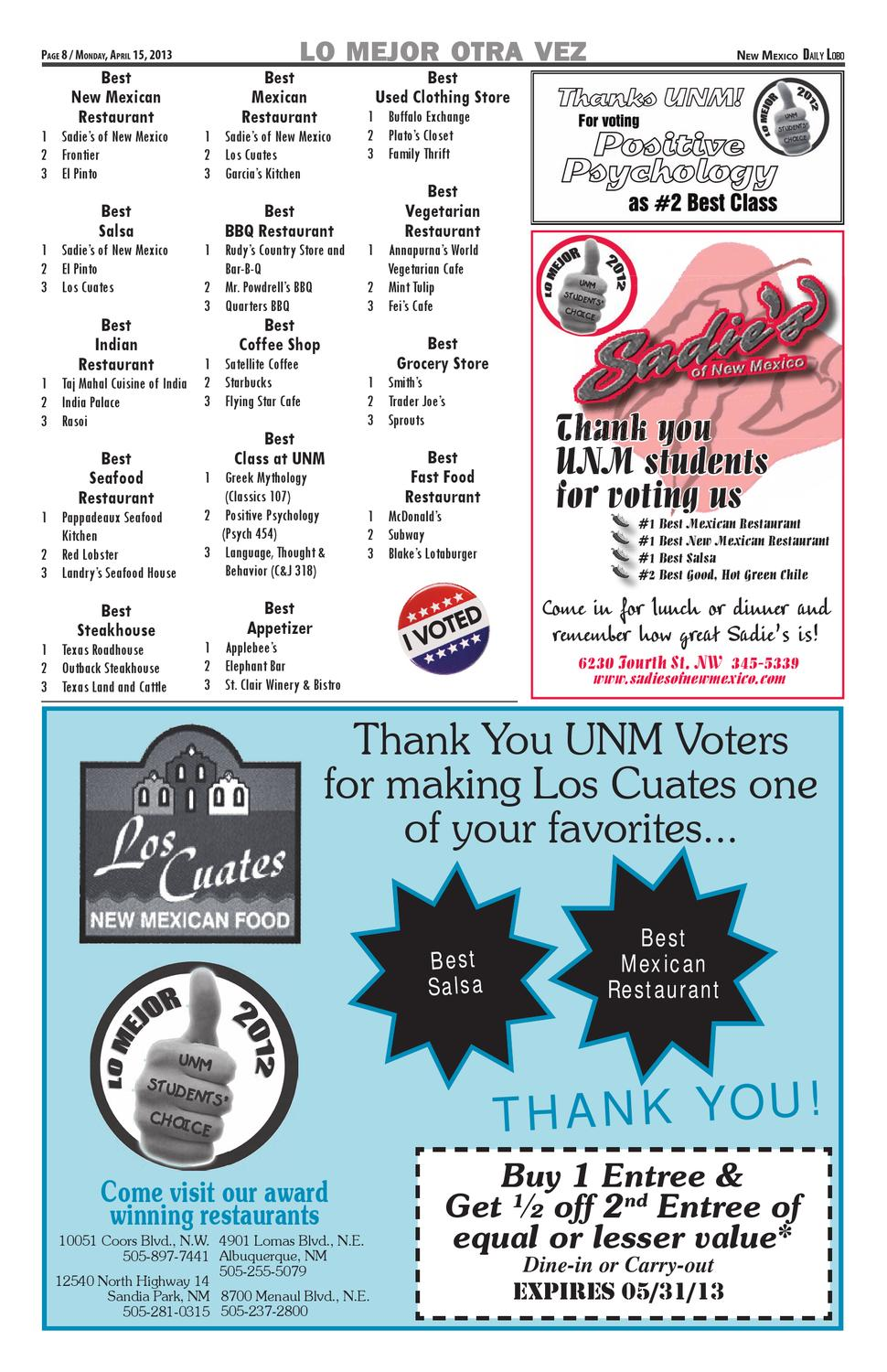 NM Daily Lobo 041513 by UNM Student Publications - issuu