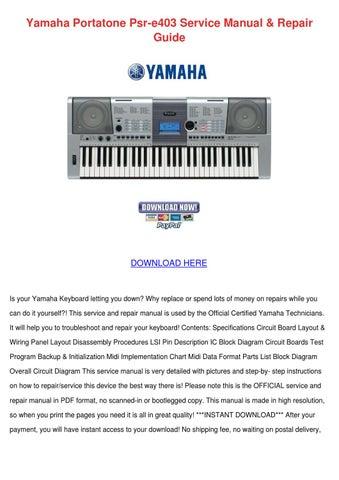 yamaha portatone psr e403 service manual repa by mavis sakihara issuu rh issuu com Yamaha Portatone YPT-210 Yamaha Portatone PSR-540