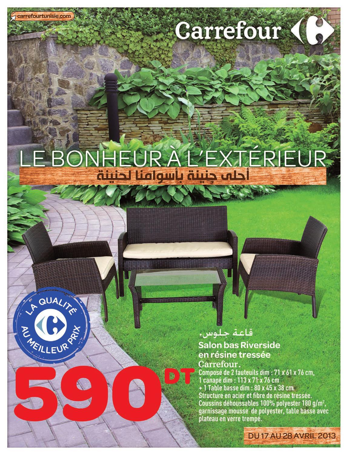 top catalogue carrefour le bonheur luextrieur by carrefour tunisie issuu with table de balcon. Black Bedroom Furniture Sets. Home Design Ideas