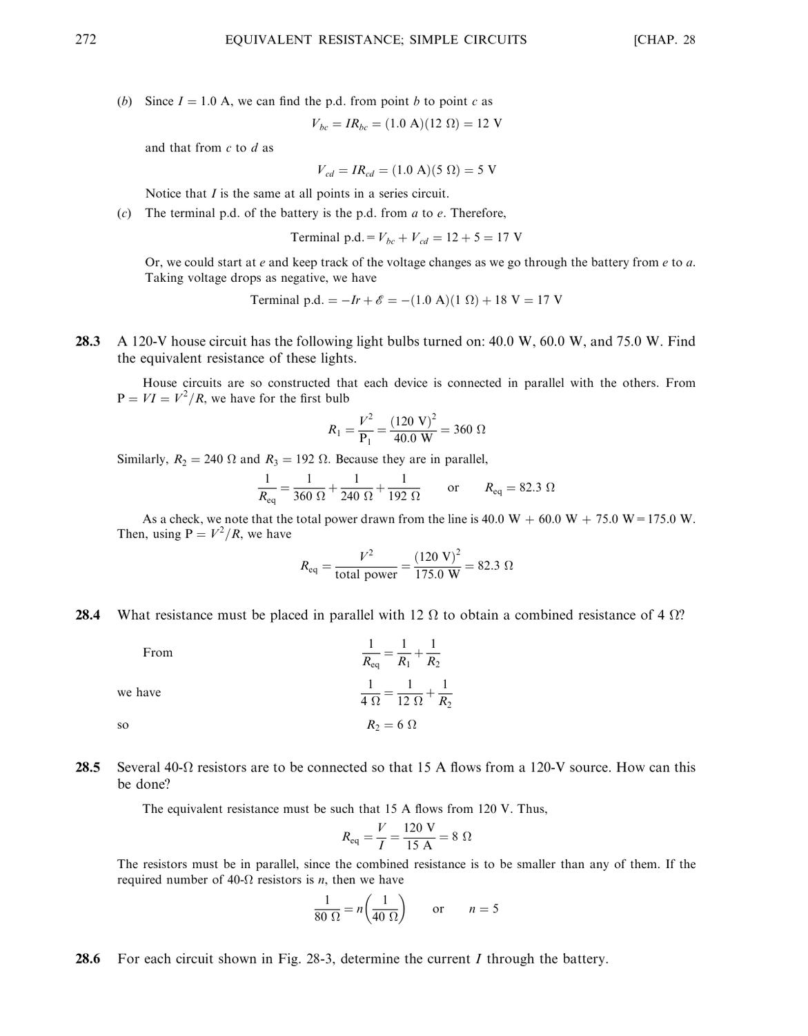 Schaums Outline Of College Physics 9th Ed Bueche Hecht 0070089418 Find Equivalent Resistance In This Circuit 1 By Karen Candia Issuu
