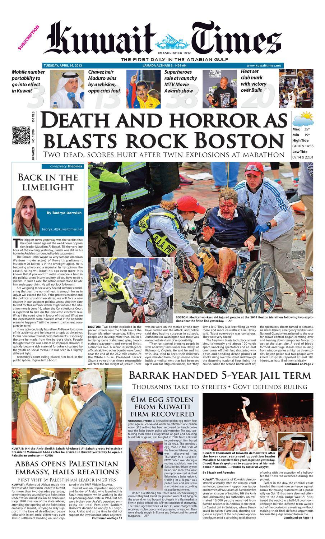 16 Apr 2013 By Kuwait Times Issuu