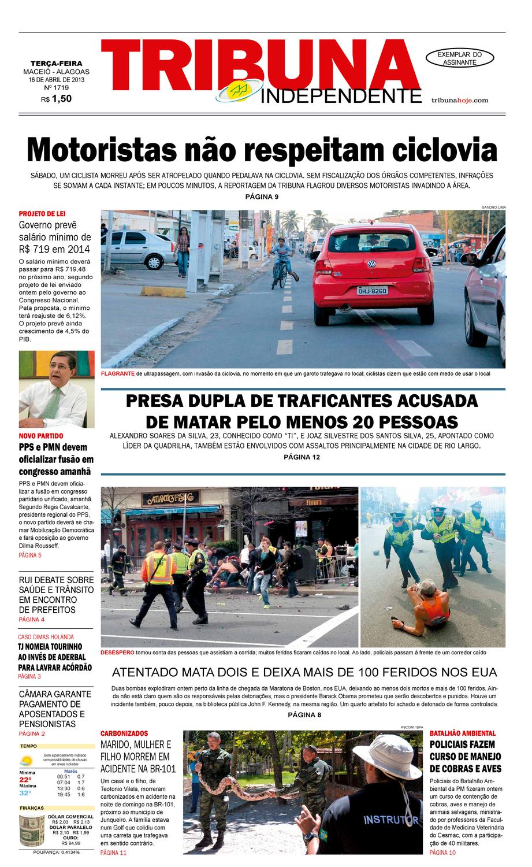 2199c62f2 Edição 1719 - 16 de abril de 2013 by Tribuna Hoje - issuu
