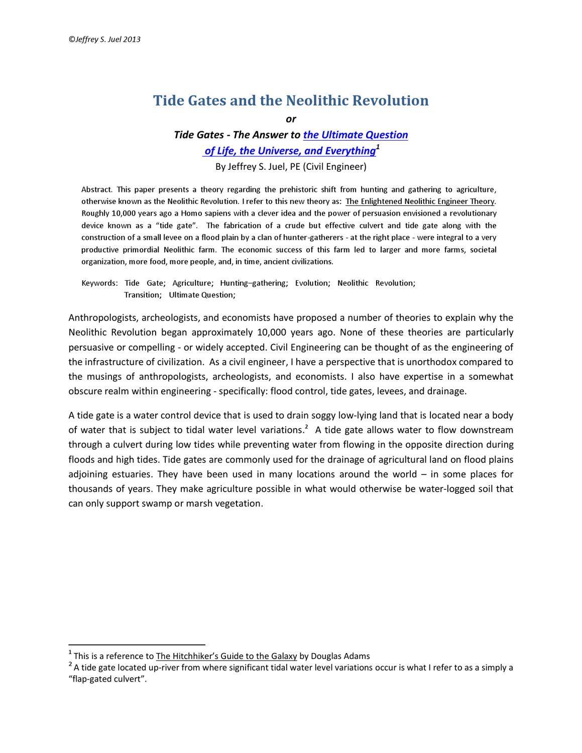neolithic revolution essay how to write thematic essays  juel tide gates tide blog seattle wa neolithic revolution 3 years ago jueltidegates revolution essay