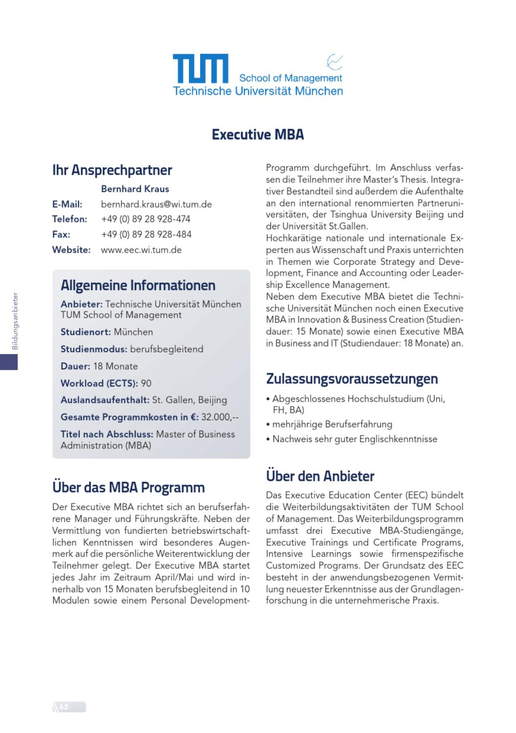 Mba Guide 2013 By Absolventen At Issuu