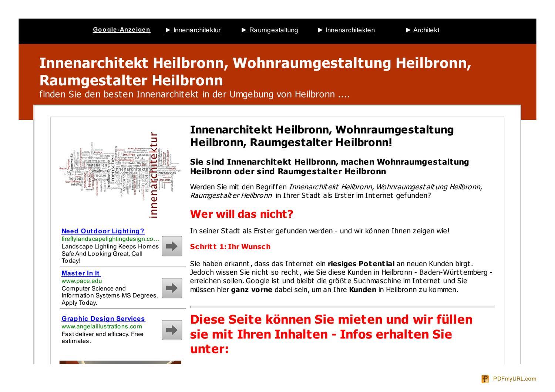 Innenarchitekt heilbronn by peter brand issuu for Raumgestalter werden