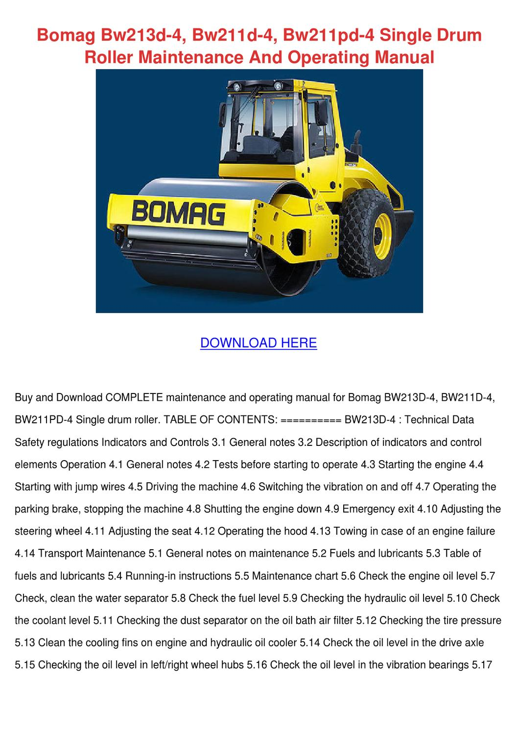 Wiring Bomag Diagram Bw211pd 3