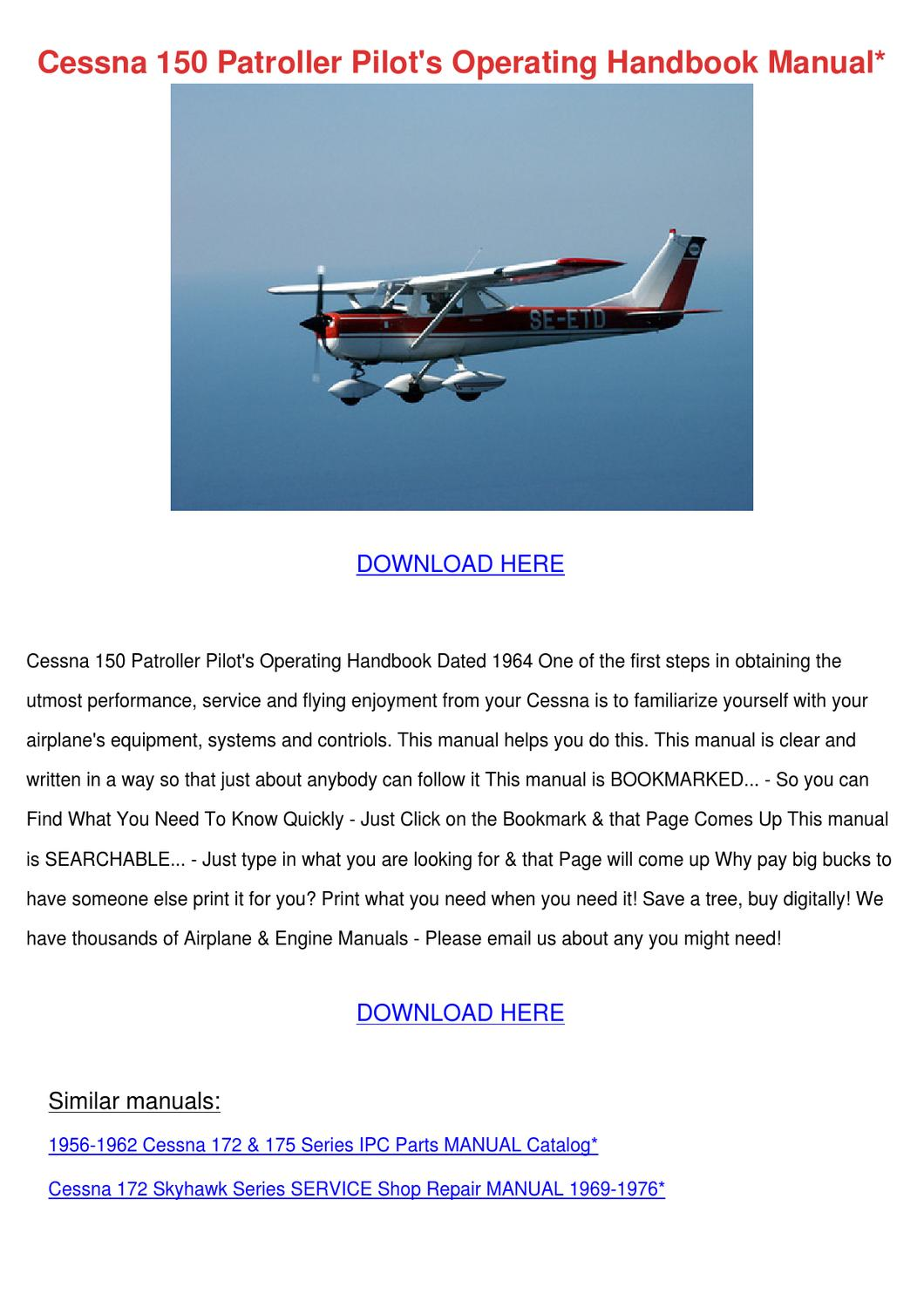 Cessna 150 Patroller Pilots Operating Handboo by Nicolle Waldenmyer - issuu