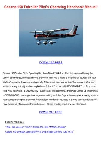 cessna 150 patroller pilots operating handboo by nicolle waldenmyer rh issuu com Flying Cessna 150 1967 Cessna 150 Cockpit Control Panel