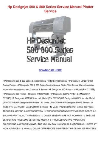 Hp Designjet 500 800 Series Service Manual Pl by Shameka Dice - issuu