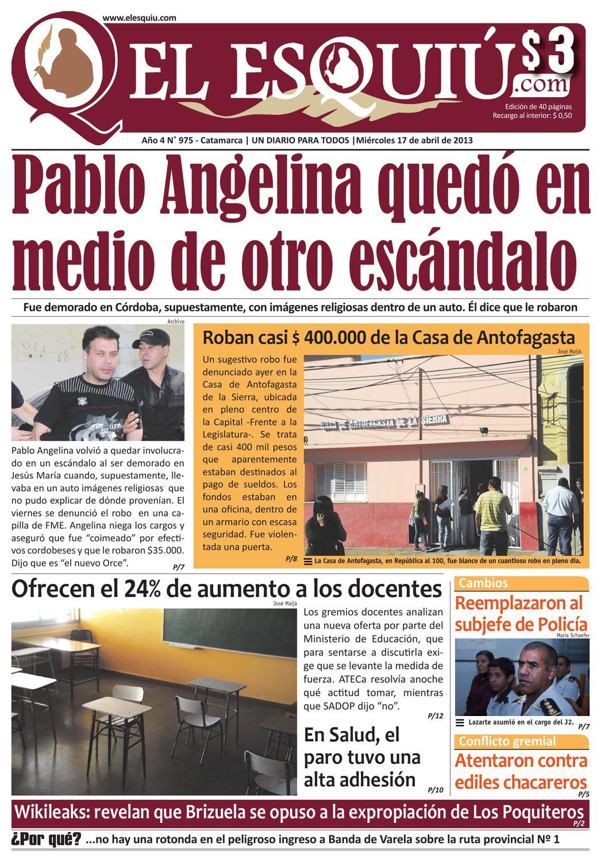 El Esquiu Com Mi Rcoles 17 De Abril De 2013 By Editorial El  # Muebles Yoma Antofagasta
