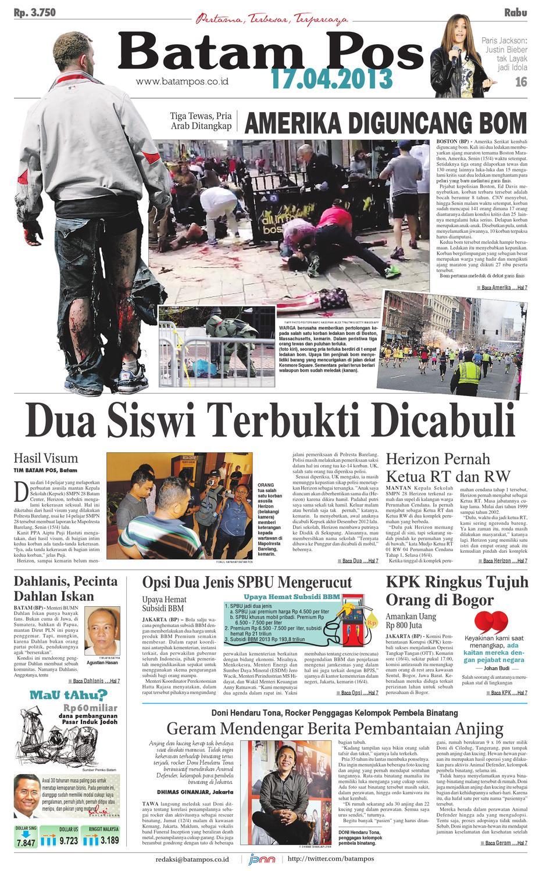17 April 2013 by Batampos Newspaper - issuu 0cb59cdd18