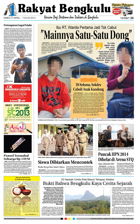 17 April 2013 By Rakyat Bengkulu Rb Issuu Produk Ukm Bumn Batik Lengan Panjang Parang Toko Ngremboko