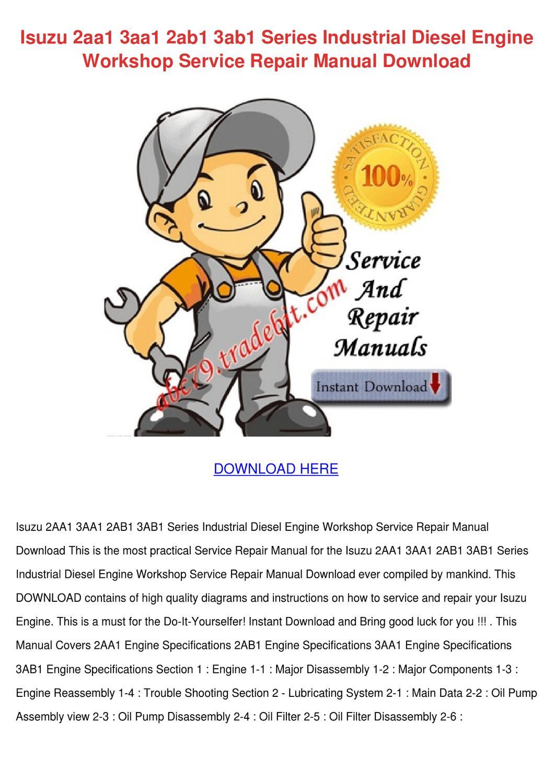 Isuzu 2aa1 3aa1 2ab1 3ab1 diesel engine workshop 2008 isuzu frr500 truck workshop service repair manual fandeluxe Images