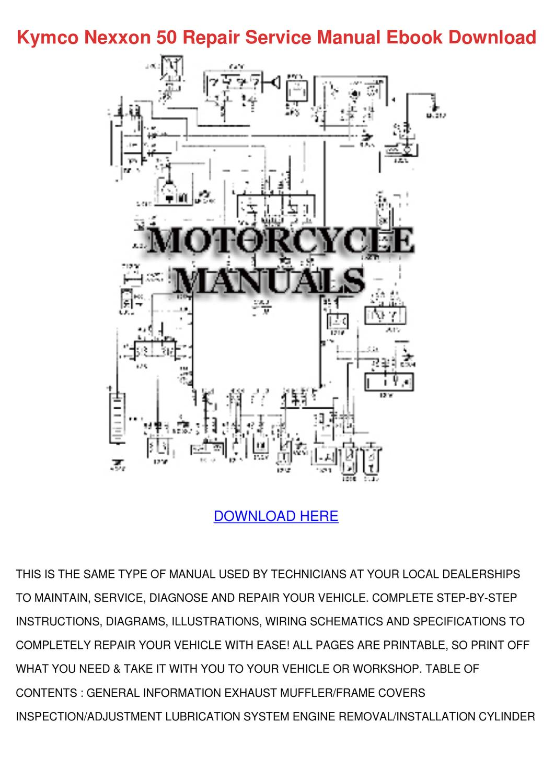 kymco 50cc scooter wiring diagram kymco nexxon 50 repair service manual ebook d by elma ...
