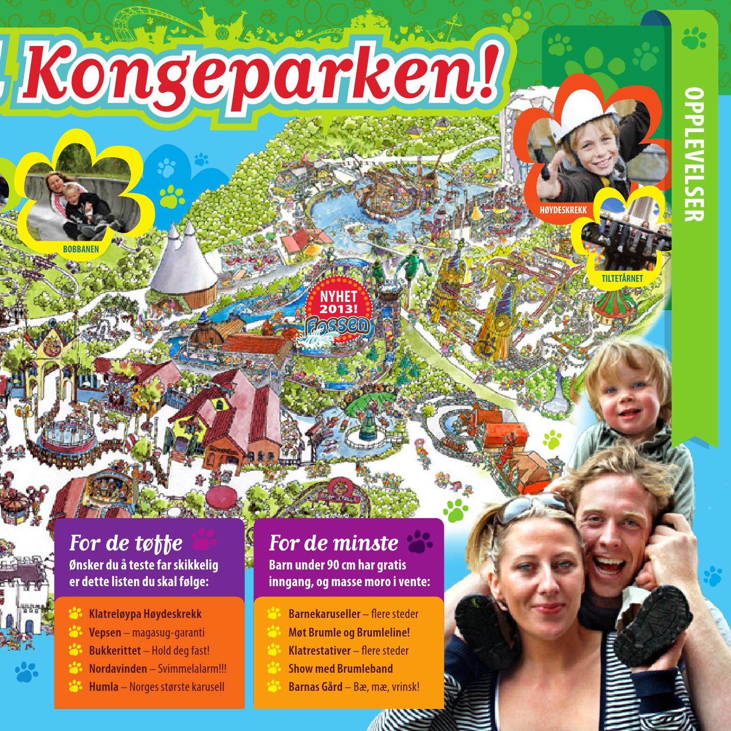 kongeparken kart Kongeparken brosjyre 2013 by Kongeparken   issuu kongeparken kart