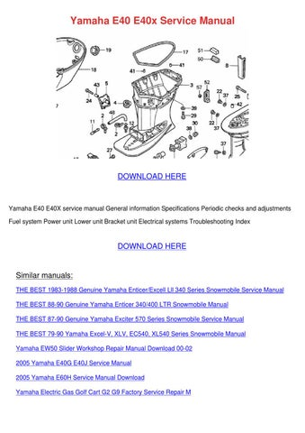 Yamaha E40 E40x Service Manual By Tiana Chretien Issuu