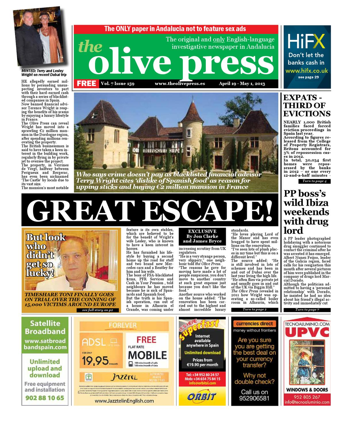 Olive Press Newspaper Issue 159 By Olive Press Newspaper Spain  # Casa Lupo Muebles De Pino