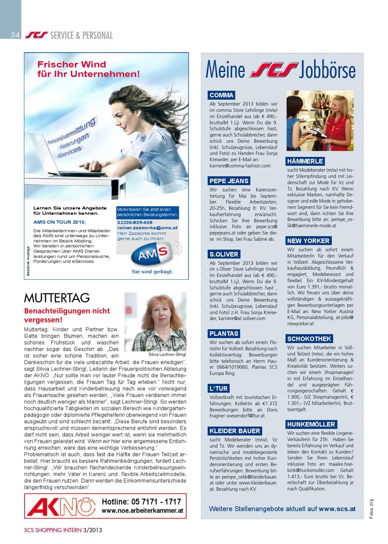 scs shopping intern nr 32013 by hannes fenz issuu - Hunkemoller Bewerbung