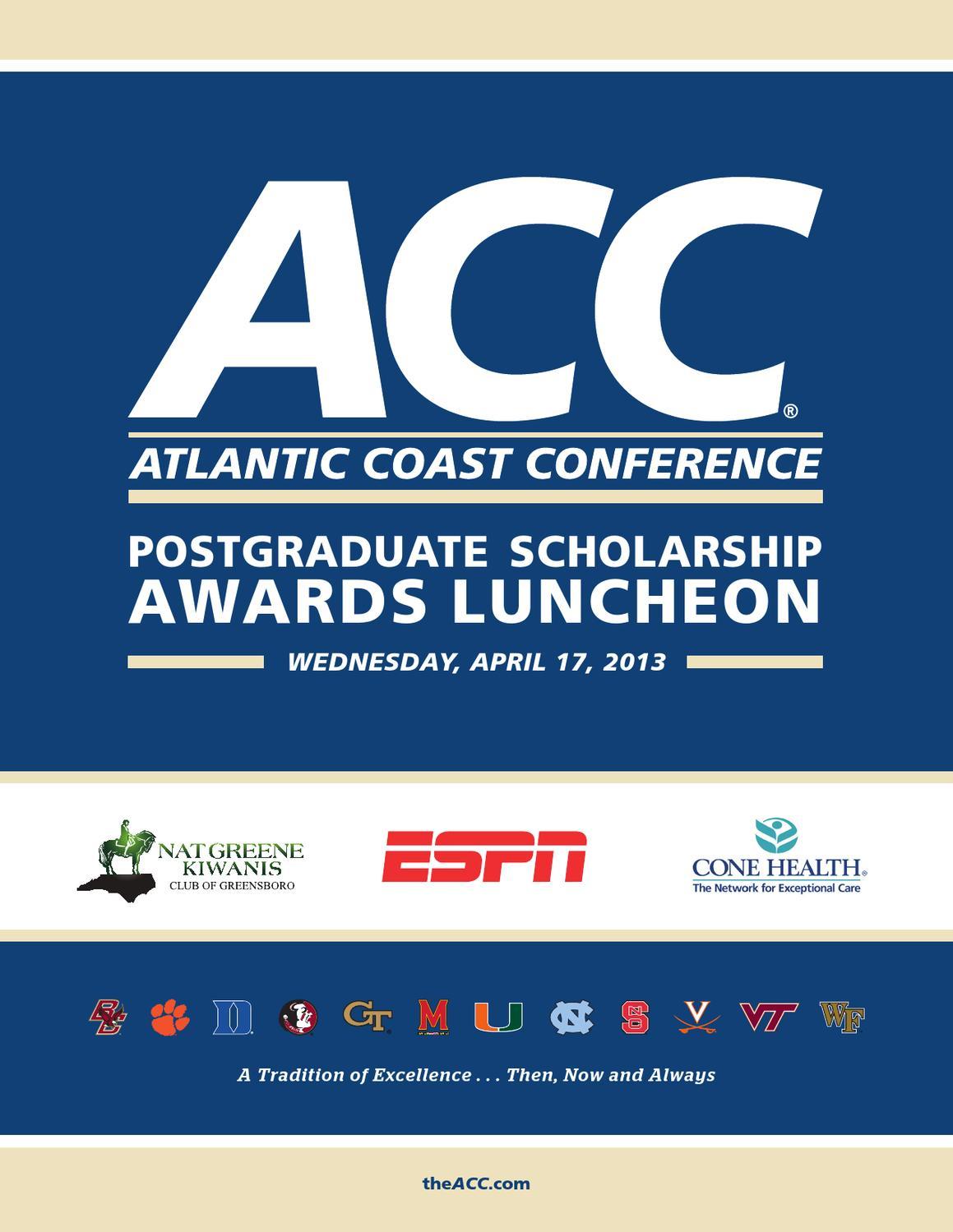 2013 ACC Postgraduate Scholars Luncheon Program