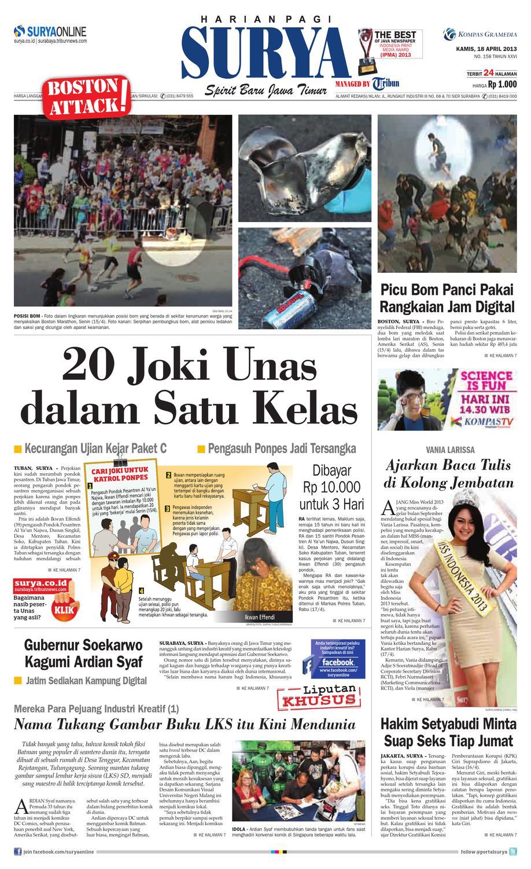 E Paper Surya Edisi 18 April 2013 By Harian Issuu Produk Ukm Bumn Wisata Mewah Bali 3hr 2mlm