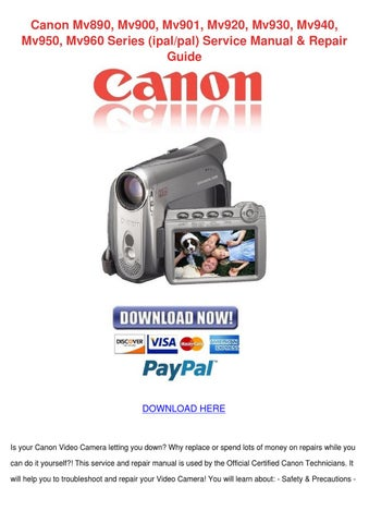 Canon mvx300 digital camcorder download instruction manual pdf.
