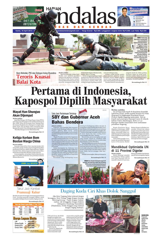 Epaper Andalas Edisi Kamis 18 April 2013 By Media Issuu Keripik Bawang Srikandi Kontan