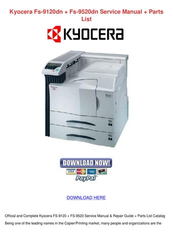 kyocera fs c5020n fs c5030n laser printer service repair manual parts list