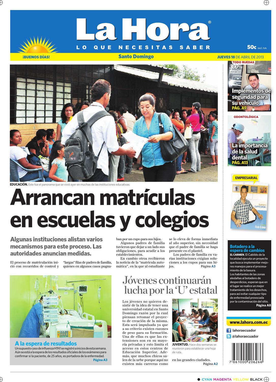 Edición impresa Santo Domingo del 18 de abril de 2013 by Diario La Hora  Ecuador - issuu 2ccbe4fc192