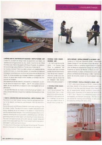 034cd61f85d 01 june - 31december 2012   clippings by HEAD - Genève - issuu