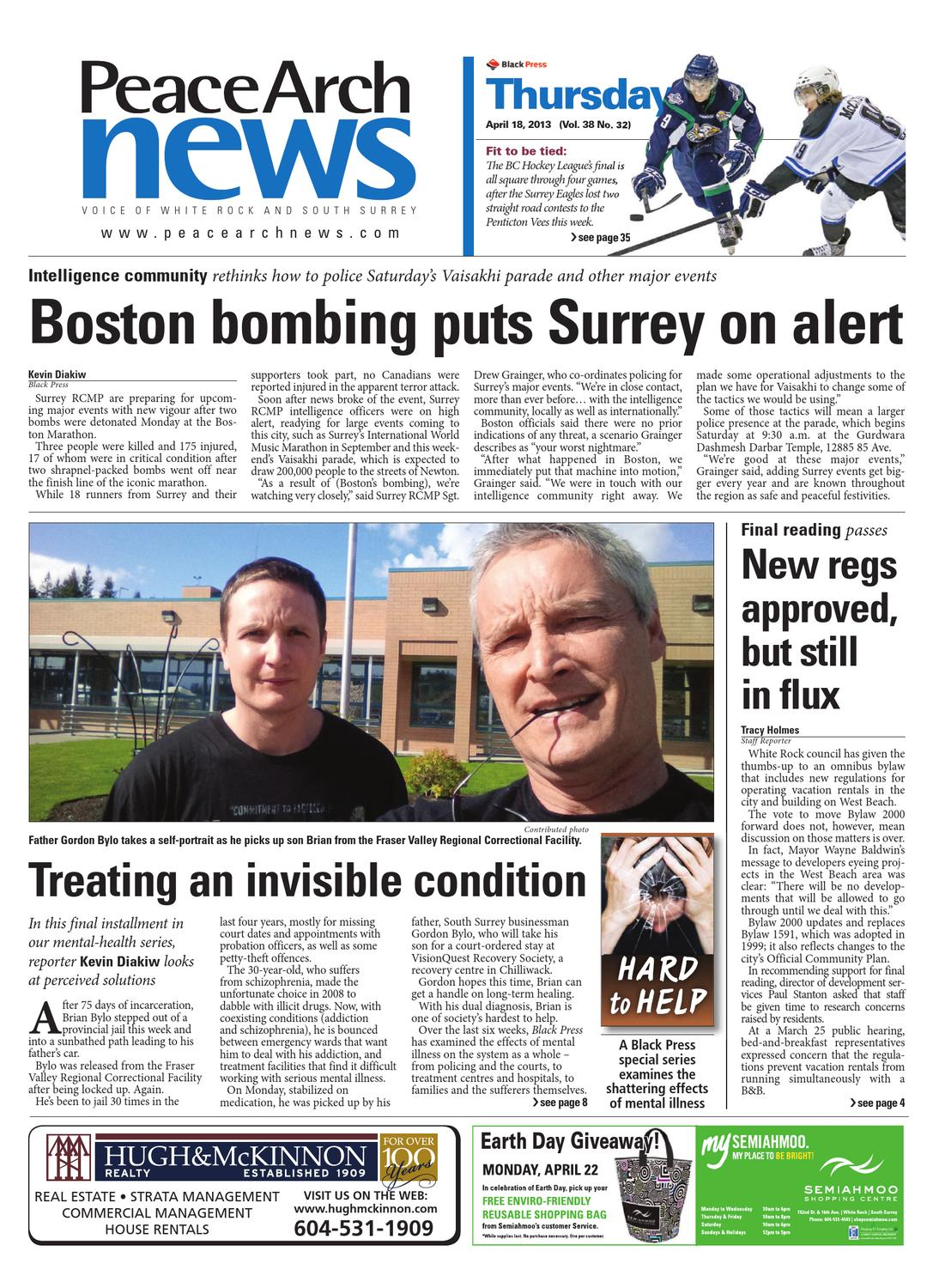 Peace Arch News April 18 2013 By Black Press