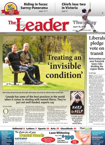 Surrey North Delta Leader, April 18, 2013 by Black Press