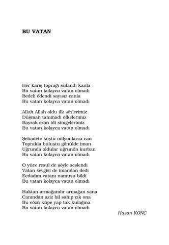 Vatan şiirleri Antolojisi By Fahriye Ayaz Issuu