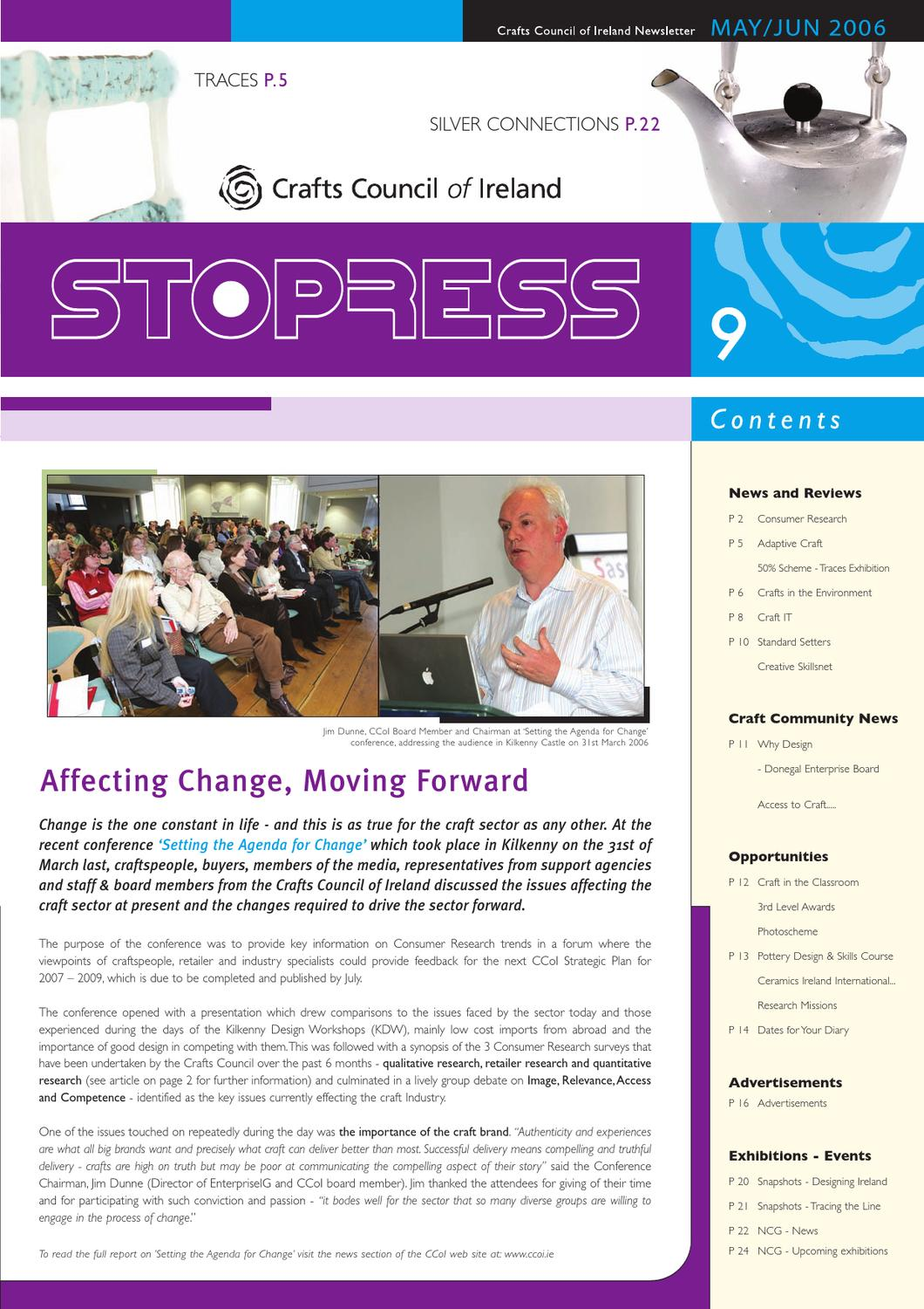 Stopress, CCoI May/June 2006 by Design & Crafts Council of