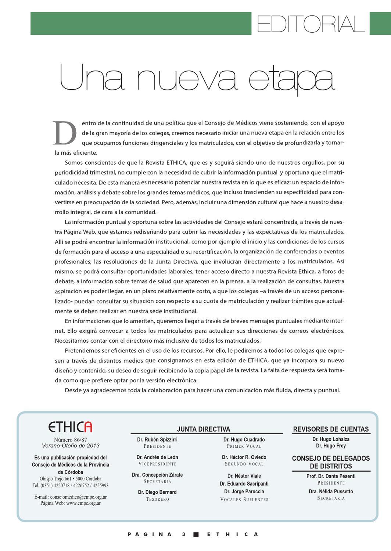 Ethica 2013 by Consejo de Médicos Provincia de Córdoba - issuu