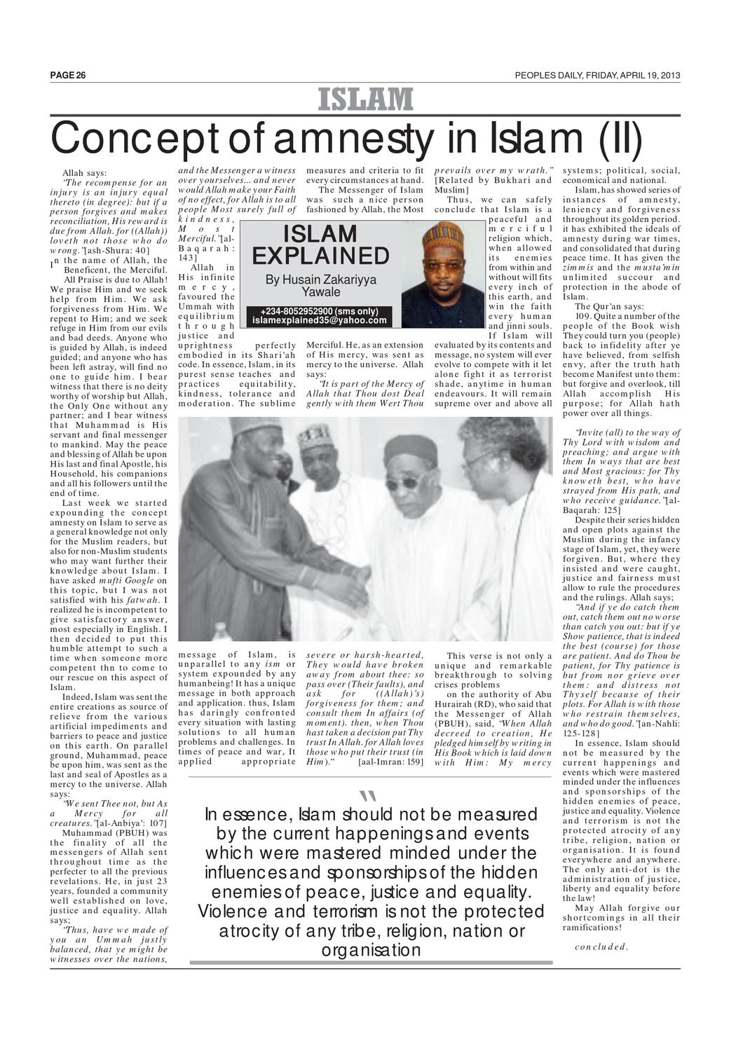 Peoples Daily Newspaper, Friday 19, April, 2013 by Peoples